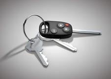 Σύγχρονα κλειδιά αυτοκινήτων για το όχημα επιβατών που απομονώνονται στο επίπεδο άσπρο sur Στοκ Εικόνες