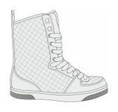 Σύγχρονα μοντέρνα πάνινα παπούτσια Στοκ Φωτογραφίες