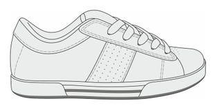 Σύγχρονα μοντέρνα πάνινα παπούτσια Στοκ Εικόνα