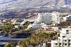 Σύγχρονα ξενοδοχεία σε Playa de Las Αμερική Στοκ Εικόνα