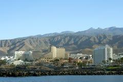 Σύγχρονα ξενοδοχεία σε Playa de Las Αμερική, Tenerife Στοκ Εικόνα