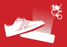 σύγχρονα παπούτσια 1 γυμνα διανυσματική απεικόνιση