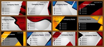 Σύγχρονα πρότυπα επαγγελματικών καρτών διανυσματική απεικόνιση