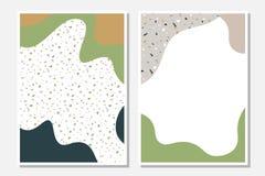 Σύγχρονα πρότυπα με τις υγρές μορφές και τη σύσταση βεράντας διανυσματική απεικόνιση
