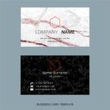 Σύγχρονα πρότυπα σχεδιαγράμματος επαγγελματικών καρτών σχεδιαστών απεικόνιση αποθεμάτων
