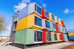 Σύγχρονα stackable διαμερίσματα σπουδαστών που καλούνται spaceboxes σε Almere, Κάτω Χώρες Στοκ φωτογραφία με δικαίωμα ελεύθερης χρήσης