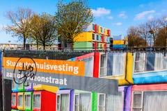 Σύγχρονα stackable διαμερίσματα σπουδαστών που καλούνται spaceboxes σε Almere, Κάτω Χώρες Στοκ φωτογραφίες με δικαίωμα ελεύθερης χρήσης