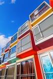 Σύγχρονα stackable διαμερίσματα σπουδαστών που καλούνται spaceboxes σε Almere, Κάτω Χώρες Στοκ Φωτογραφίες