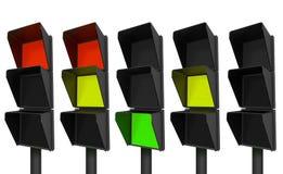 σύγχρονα stoplights ελεύθερη απεικόνιση δικαιώματος