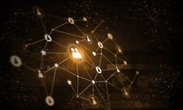Σύγχρονες ασύρματες τεχνολογίες ως μέσα του communucation και της δικτύωσης στο σκοτεινό υπόβαθρο Στοκ φωτογραφία με δικαίωμα ελεύθερης χρήσης