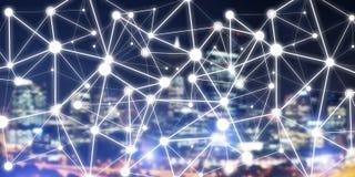Σύγχρονες ασύρματες τεχνολογίες ως μέσα του communucation και της δικτύωσης στο σκοτεινό υπόβαθρο Στοκ εικόνες με δικαίωμα ελεύθερης χρήσης