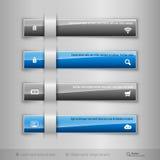 Σύγχρονες επιχειρησιακές ετικέττες - infographics - πρότυπο για το σχέδιο Ιστού ή ελεύθερη απεικόνιση δικαιώματος