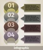 Σύγχρονες επιλογές αριθμού επιχειρησιακού infographics Στοκ Εικόνες