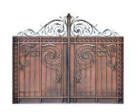 Σύγχρονες διακοσμητικές πύλες χάλυβα στοκ εικόνα με δικαίωμα ελεύθερης χρήσης