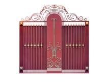 Σύγχρονες διακοσμητικές πύλες χάλυβα στοκ φωτογραφία