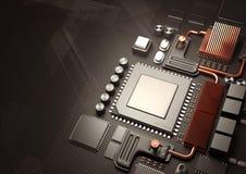 Σύγχρονες κυκλώματα και τεχνολογία μικροϋπολογιστών Στοκ Εικόνα