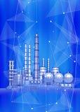 Σύγχρονες χημικές εγκαταστάσεις κατασκευής - η έννοια της σύγχρονης τεχνολογίας Στοκ εικόνα με δικαίωμα ελεύθερης χρήσης