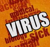 Σύγχρονη έννοια υγείας: Ιός στον κίτρινο τοίχο απεικόνιση αποθεμάτων