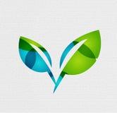 Σύγχρονη έννοια φύλλων eco σχεδίου εγγράφου Στοκ εικόνα με δικαίωμα ελεύθερης χρήσης