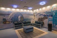 Σύγχρονη αίθουσα αναμονής νοσοκομείων Στοκ εικόνες με δικαίωμα ελεύθερης χρήσης