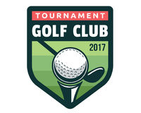 Σύγχρονη απεικόνιση λογότυπων διακριτικών γκολφ Στοκ Εικόνα
