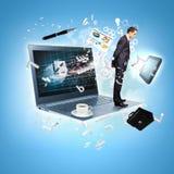 Σύγχρονη απεικόνιση τεχνολογίας Στοκ εικόνα με δικαίωμα ελεύθερης χρήσης