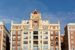 Σύγχρονη αρχιτεκτονική λεπτομερειών της ισπανικής πόλης Μάλαγα Στοκ φωτογραφία με δικαίωμα ελεύθερης χρήσης
