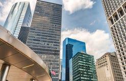 Σύγχρονη αρχιτεκτονική και ορίζοντας του στο κέντρο της πόλης Μανχάταν, NYC - ΗΠΑ Στοκ φωτογραφία με δικαίωμα ελεύθερης χρήσης
