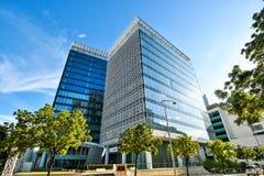 Σύγχρονη αρχιτεκτονική κτιρίου γραφείων σε Putrajaya, Μαλαισία η φωτογραφία λήφθηκε το 15/05/2017 Στοκ φωτογραφία με δικαίωμα ελεύθερης χρήσης