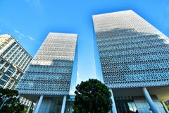 Σύγχρονη αρχιτεκτονική κτιρίου γραφείων σε Putrajaya, Μαλαισία η φωτογραφία λήφθηκε το 15/05/2017 Στοκ εικόνες με δικαίωμα ελεύθερης χρήσης