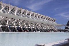 Σύγχρονη αρχιτεκτονική στην πόλη των τεχνών και της επιστήμης Στοκ εικόνα με δικαίωμα ελεύθερης χρήσης