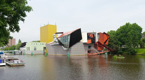 Σύγχρονη αρχιτεκτονική στο Γκρόνινγκεν, Κάτω Χώρες στοκ εικόνα