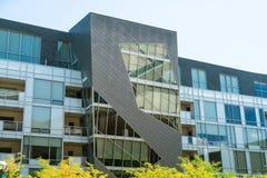 Σύγχρονη αρχιτεκτονική στο στο κέντρο της πόλης Ντένβερ Κολοράντο στοκ φωτογραφίες