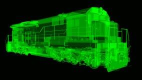 Σύγχρονη ατμομηχανή σιδηροδρόμων diesel με τη μεγάλη δύναμη και τη δύναμη για την κίνηση του μακριού και βαριού τραίνου σιδηροδρό ελεύθερη απεικόνιση δικαιώματος