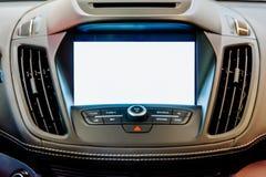 Σύγχρονη αυτοκινήτων εσωτερική επίδειξη οθόνης ΠΣΤ κενή στοκ φωτογραφίες με δικαίωμα ελεύθερης χρήσης