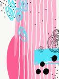 Σύγχρονη αφηρημένη ψηφιακή σύγχρονη ζωγραφική στο καθιερώνον τη μόδα hipster απεικόνιση αποθεμάτων