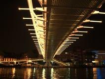 Σύγχρονη γέφυρα τή νύχτα Στοκ Εικόνες