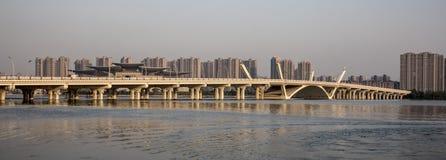 Σύγχρονη γέφυρα Lihu, Wuxi Κίνα Στοκ Εικόνες