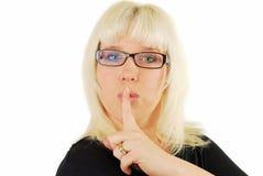 σύγχρονη γυναίκα γυαλιών στοκ φωτογραφία