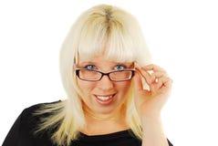 σύγχρονη γυναίκα επιχειρησιακών γυαλιών στοκ φωτογραφίες με δικαίωμα ελεύθερης χρήσης