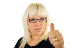 σύγχρονη γυναίκα επιχειρησιακών γυαλιών στοκ φωτογραφία με δικαίωμα ελεύθερης χρήσης