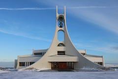 Σύγχρονη εκκλησία σε Stykkisholmur, Ισλανδία Στοκ Εικόνες