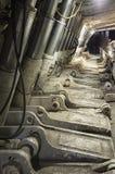 Σύγχρονη εξαγωγή άνθρακα: Longwall μεταλλεία: Ασπίδες Στοκ φωτογραφία με δικαίωμα ελεύθερης χρήσης