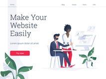 Σύγχρονη επίπεδη διανυσματική έννοια απεικόνισης των ανθρώπων που κάνουν το σχέδιο ιστοσελίδας για τον ιστοχώρο Δημιουργικό σχέδι διανυσματική απεικόνιση