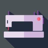 Σύγχρονη επίπεδη ράβοντας μηχανή εικονιδίων έννοιας σχεδίου Στοκ εικόνα με δικαίωμα ελεύθερης χρήσης