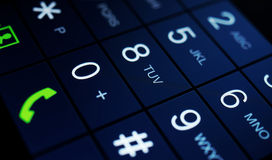 Σύγχρονη επίδειξη smartphone Στοκ Εικόνα