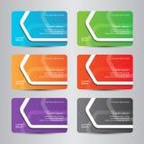 Σύγχρονη επαγγελματική κάρτα χρώματος επαγγελματικών καρτών πλήρης Στοκ Εικόνα