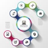 Σύγχρονη επιλογή επιχειρησιακού σπειροειδής infographics αφηρημένη διανυσματική απεικόνιση ελεύθερη απεικόνιση δικαιώματος