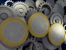 Σύγχρονη ευρο- οικονομία απεικόνιση αποθεμάτων