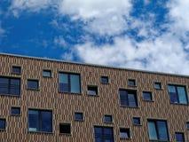 Σύγχρονη ελεγμένη πρόσοψη σπιτιών Στοκ Εικόνες